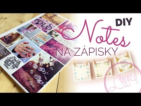 DIY Notes na zápisky | #laterezatelier