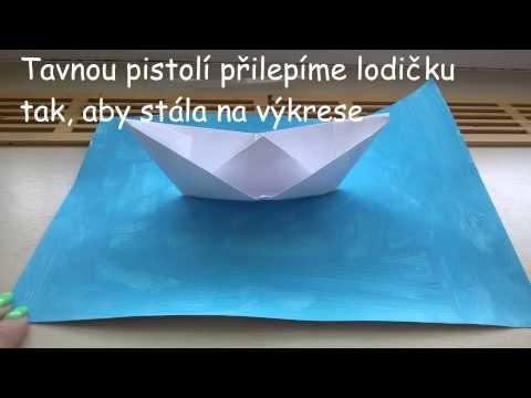 """DIY papírová lodička """"Dovolená"""""""