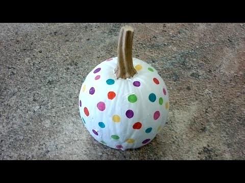 Jak na to: 27# Veselá puntíkovaná dýně na Halloween DIY