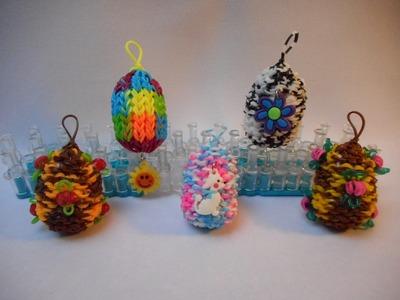 3D Velikonoční vajíčka z gumiček
