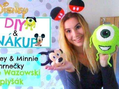 DISNEY | Mickey & Minnie hrnečky + Mike Wazowski plyšák