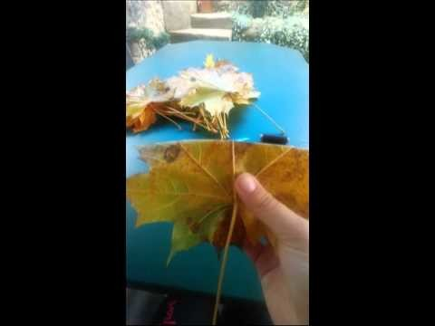 DIY růže z j. listů