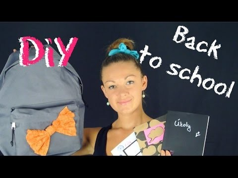 Zpátky do školy #3. Back to school. School supplies. DiY