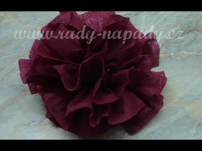 Květina z ubrousku - flower - diy