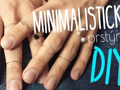 Minimalistické prstýnky DIY | #laterezatelier