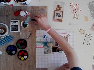Scrapbook layout – funky × elegance