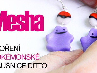 Fimo náušnice | Pokémon Ditto a pokeball | DIY