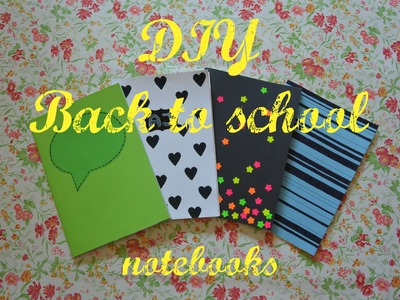 DIY Back to school 2016 - sešity