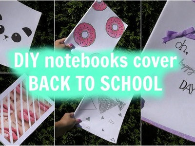 Back to school - DIY notebooks cover I Maky Burberry