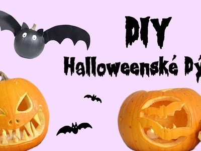 HALLOWEEN S ANY - DIY Halloweenské dýně