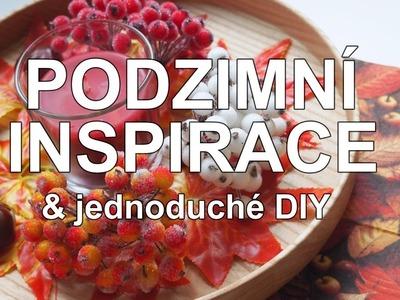 FALL INSPIRATION & DIY | podzimní inspirace a jednoduché DIY