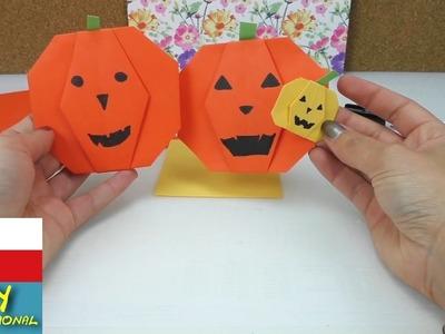 Helloween dýně z papíru - jak si poskládat hezkou dekoraci na party