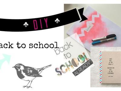 DIY⎥Back to school - school supplies + tips 2016