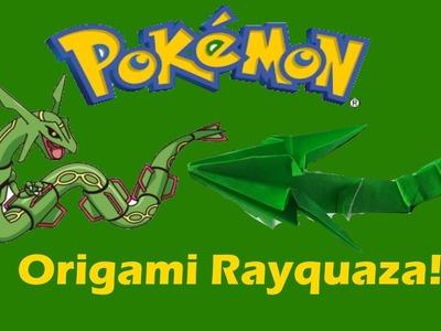 Origami Pokémon Rayquaza!