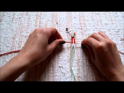 Uzlíkový náramok: štvorcový uzol (Square Knot Bracelet)
