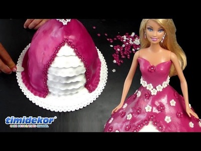 Barbie Doll Cake - HOW TO decorate a princess cake. Dort s panenkou