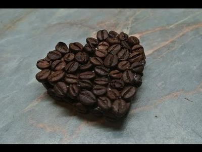 Dekorace z kávových zrnek - diy - coffee decorations