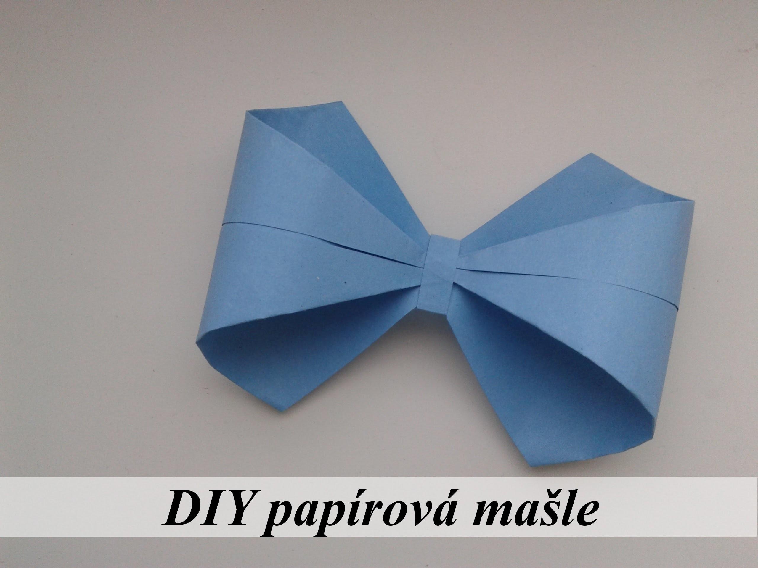 DIY papírová mašle.DIY paper bow