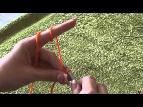 Háčkování - klouzavý uzel; Crochet - Slipknot