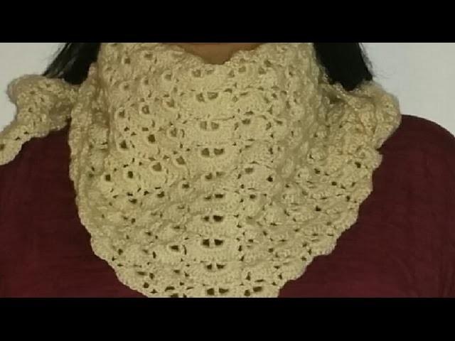 Háčkovaný šátek - crochet scarf