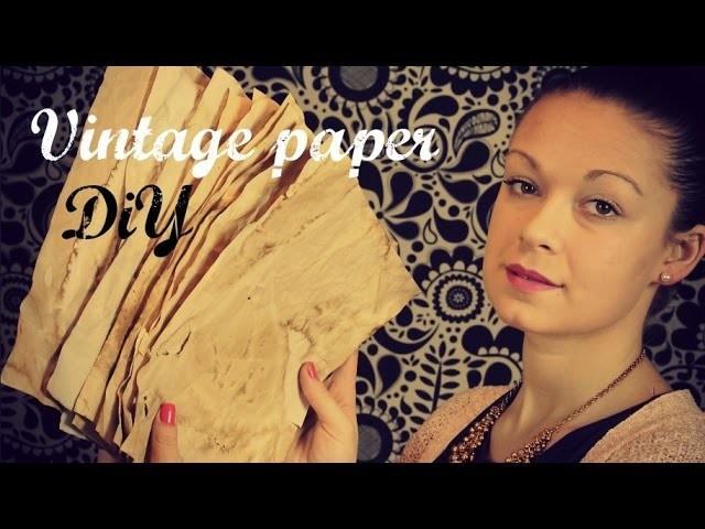 Jak si vyrobit vintage papír (How to Make Paper Look Old) DiY