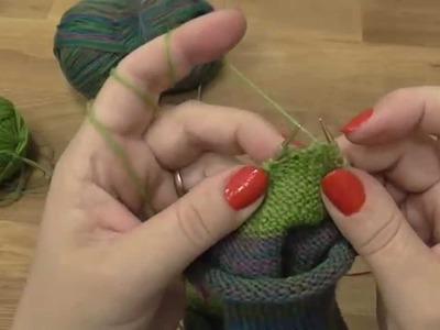 Kurz pletení ponožek - pata + váček podruhé  (7. díl) Knitting socks