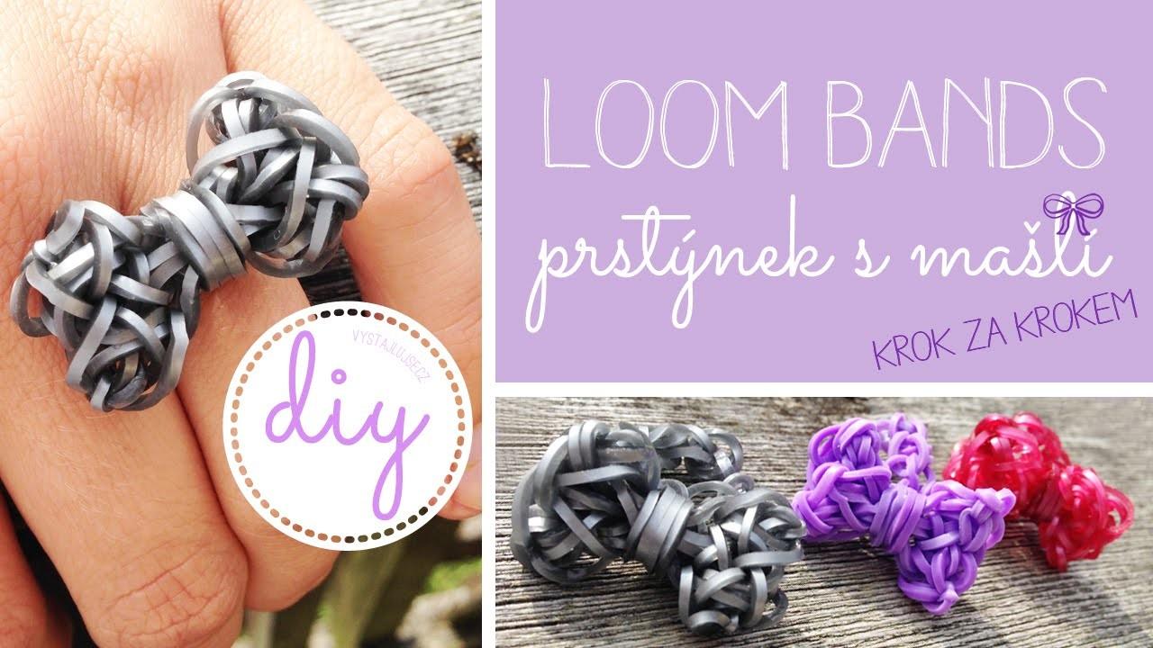 Loom Bands Mašle prstýnek KROK ZA KROKEM I DIY, tutorial Loom Bands Bow I laTerez Atelier