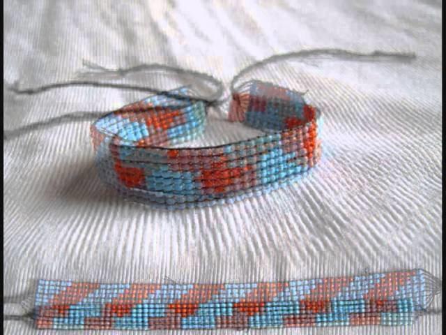 Náramky z gumiček a korálků, bracelets from beads