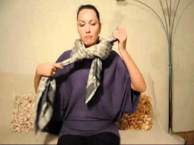 Několik možností, jak uvázat velký šál - How to tie a scarf