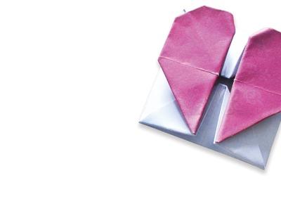 Origami krabička se srdcem