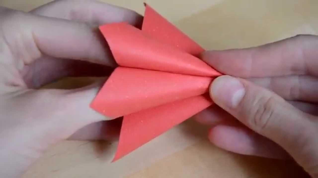 Origami květiny