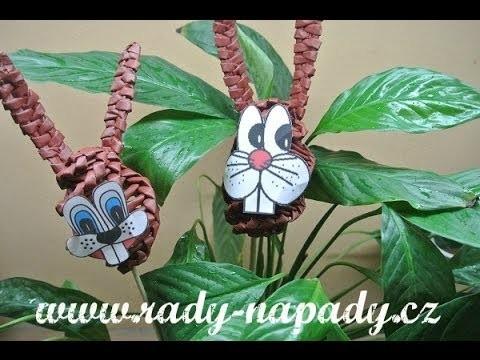Velikonoční zajíc - pletení z papíru - Easter Bunny - diy