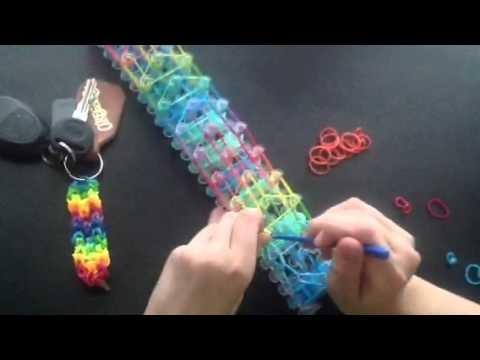 Jak udělat přívěšek z Rainbow Loom gumiček