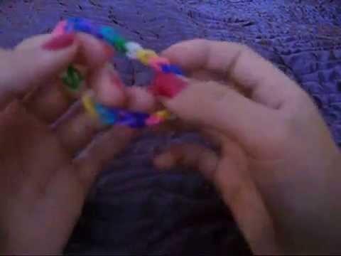 Jak udělat jeden z nejlehčích náramků z gumiček LOOM BANDS