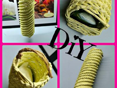 Pletení z papíru - dávkovač na odličovací tamponky (dispenser facial swabs)