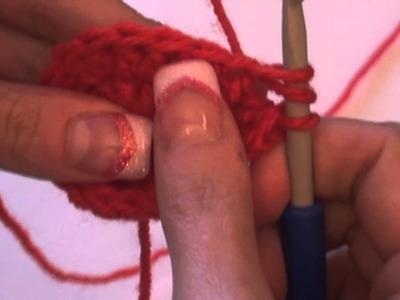 Háčkování - sháčkování 2 dlouhých sloupků; Crochet decrease