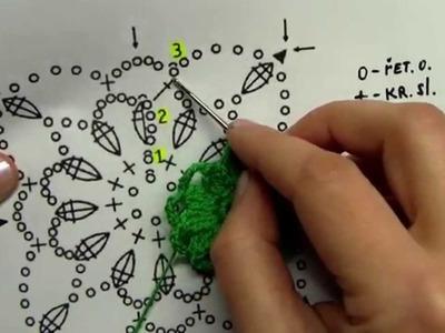 Jak háčkovat a spojovat čtvereček 1 část.