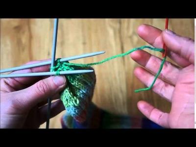 Pletení ponožek na pěti jehlicích - 3. část
