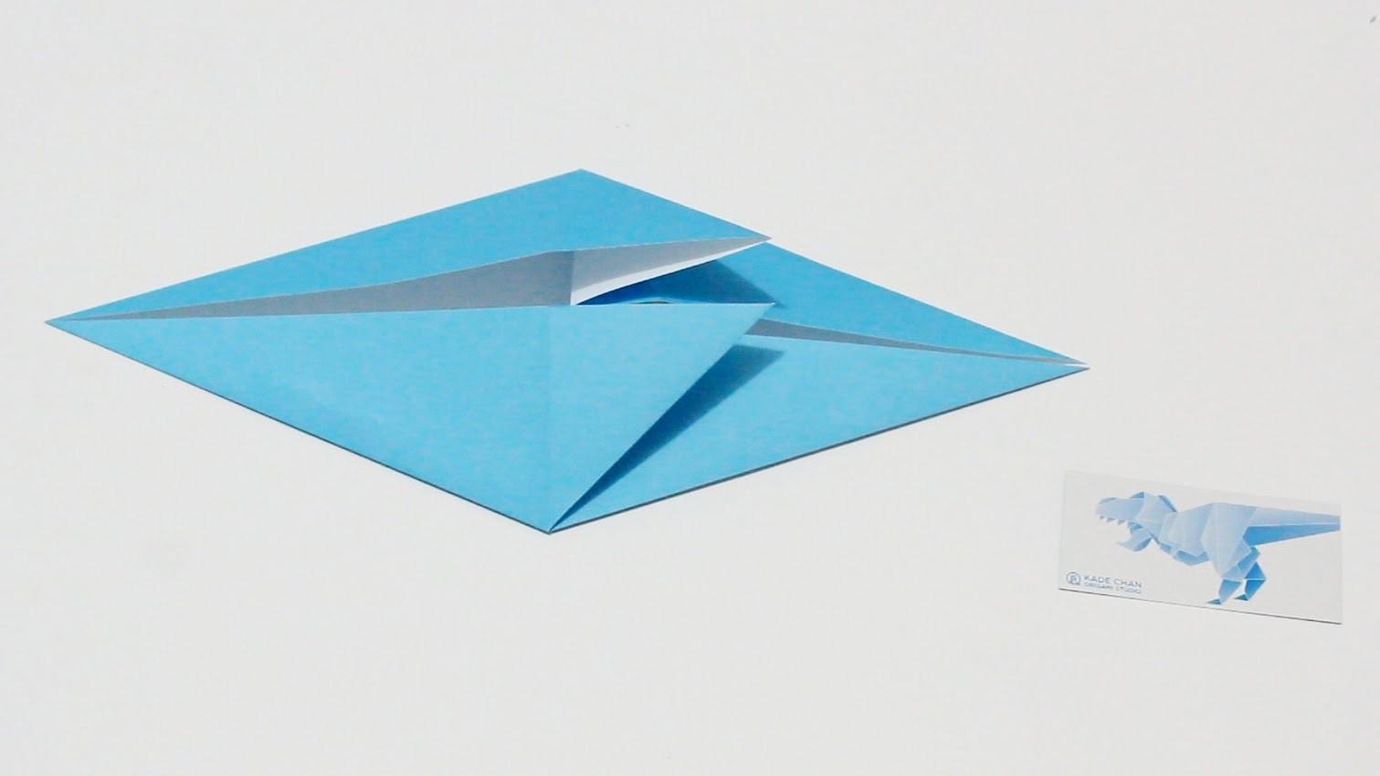 Origami Basics 13 : How to fold Fish Base 摺紙基本技巧 13 : 魚基本形