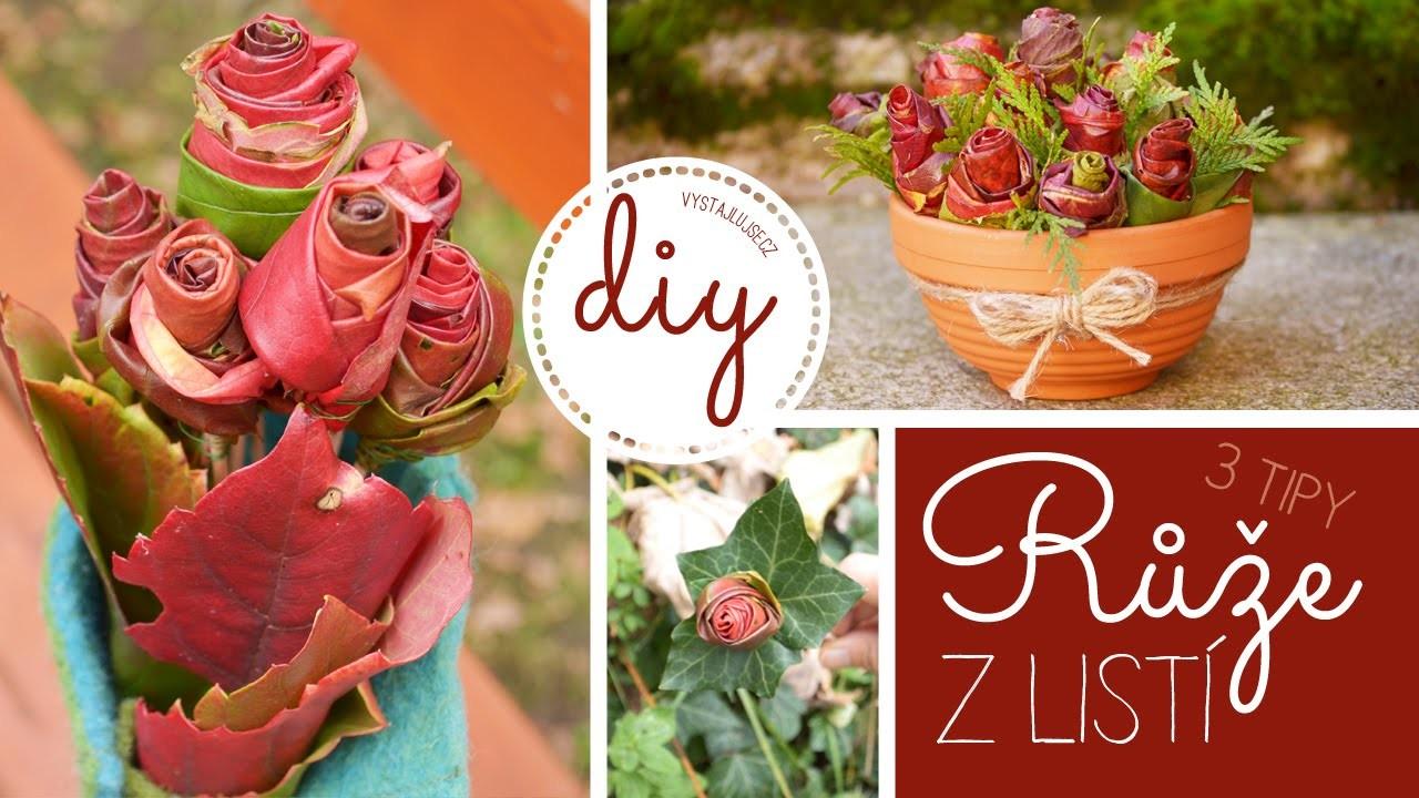 Podzimní dekorace #2 | Jak si vyrobit růže z podzimního listí | DIY Fall Room Decor