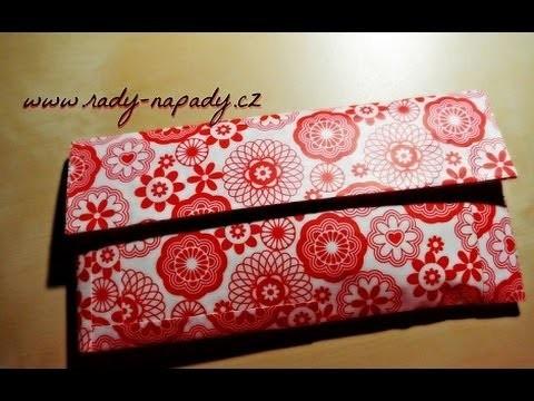 Penál z lepící barevné pásky (duct tape pencil pouch tutorial)