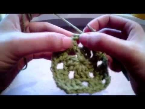Háčkovaný čtvereček - Basic Crochet Granny Square Tutorial