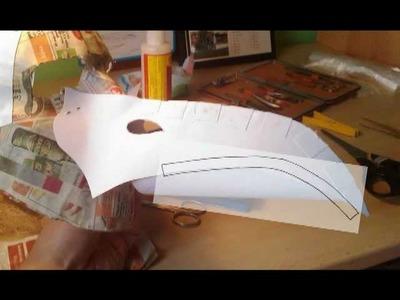 Maska morového doktora - výroba. Plague doctor mask - making of