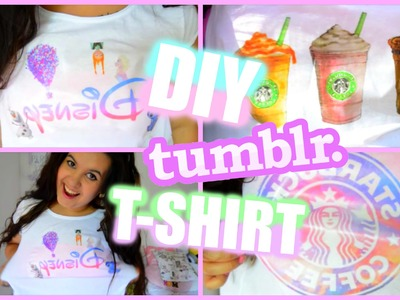 ♡ DIY TUMBLR T-SHIRT . DIY TRIČKA ♡