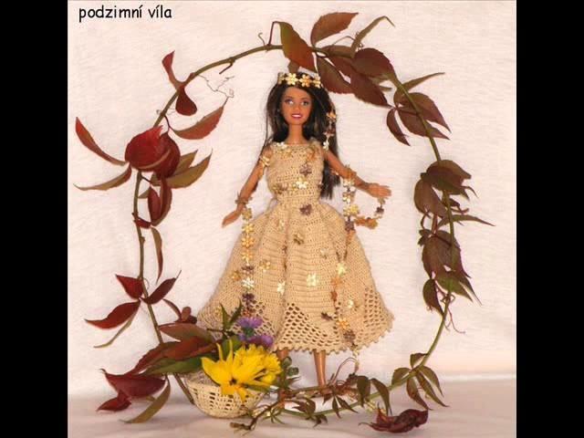Háčkované šatičky na panenku Barbie Samanda   Barbie girl