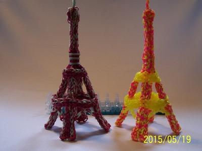 3D Eiffelova věž  z gumiček