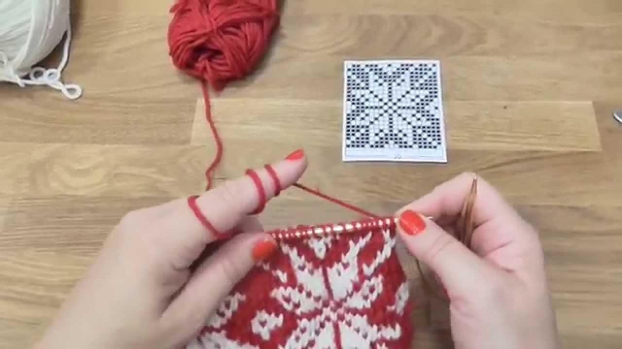Pletení čepice s norským vzorem 3. díl, Norwegian knitting hat