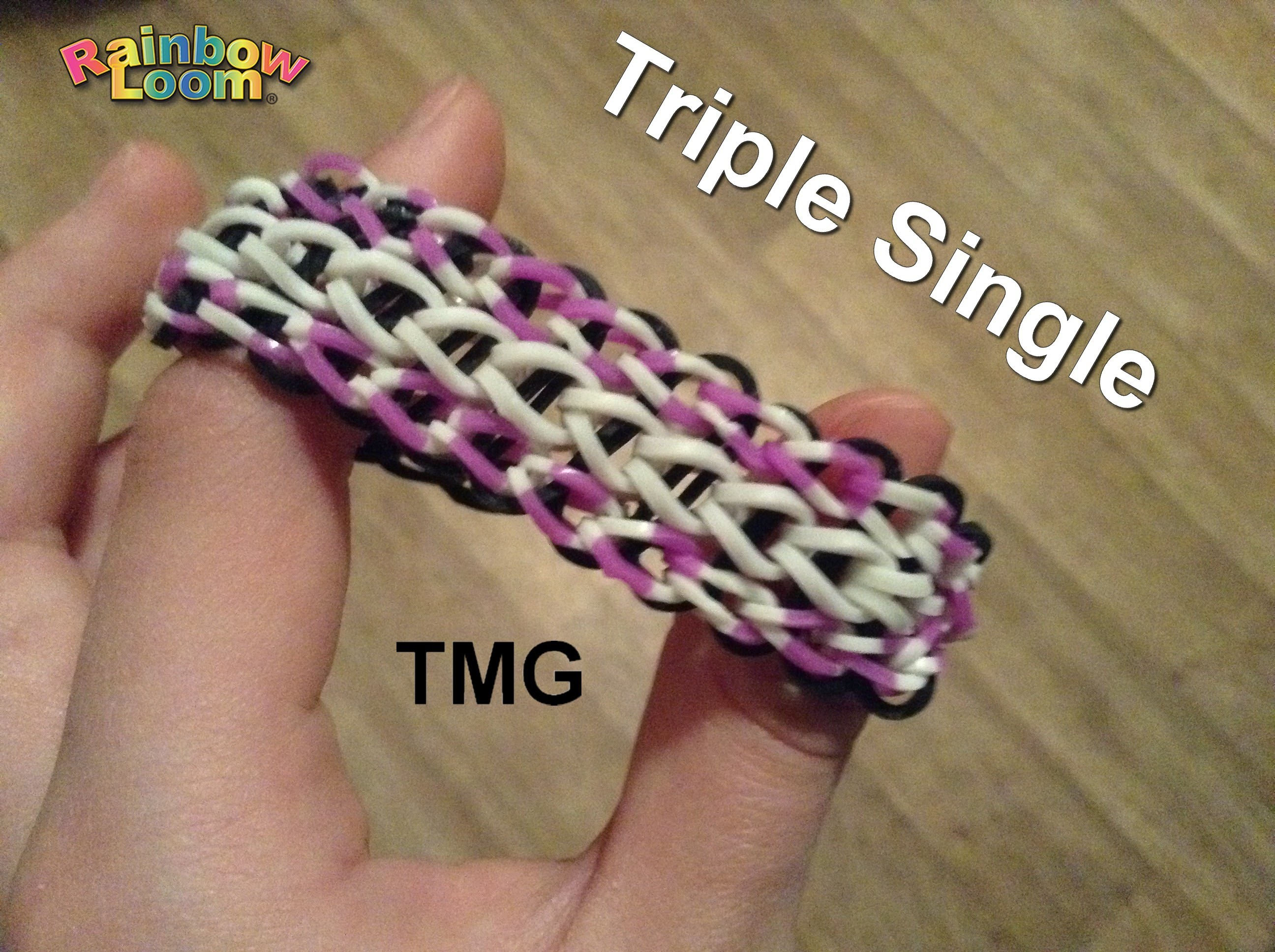 Rainbow Loom - Triple Single - Ája