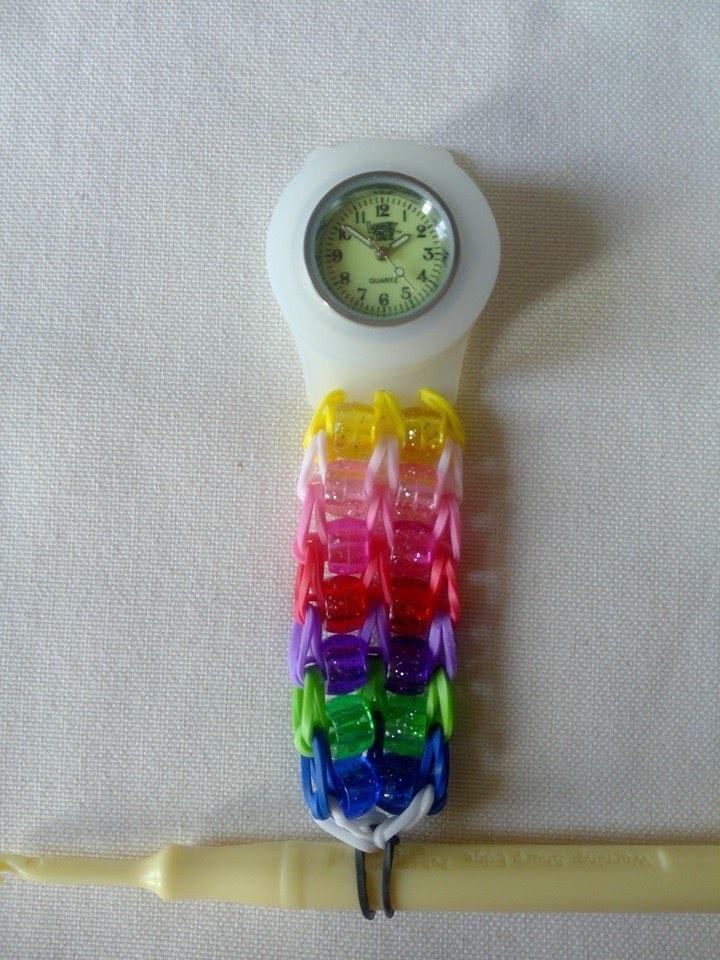 Loomey Time hodinky s Rainbow loom gumičkami a korálky