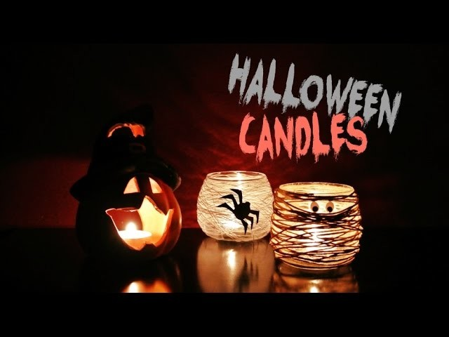 DiY halloweenské svícny. halloween candles. halloween decorations #1